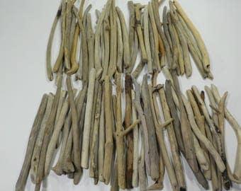 """70 small/thin driftwood 5.5-8.2"""" /14-21cm, bulk lightweight driftwood sticks, craft driftwood sticks, trendy driftwood sticks #128B"""