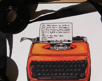 Vintage Typewriter | Illustration Print
