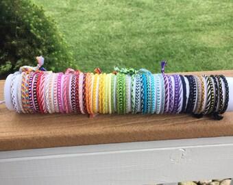 Traditional Tie-On String Friendship Bracelet