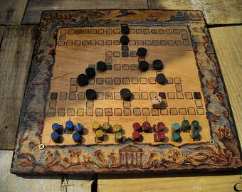 Atlantis - Barricade board game, Malefiz, personalised wooden board game, custom made strategy game, hand made game, custom request, unique