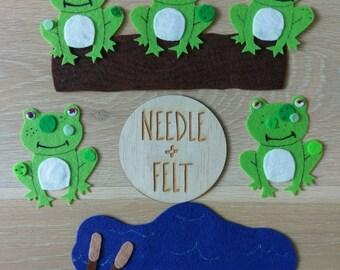 Five Little Speckled Frogs Felt Board Story Song