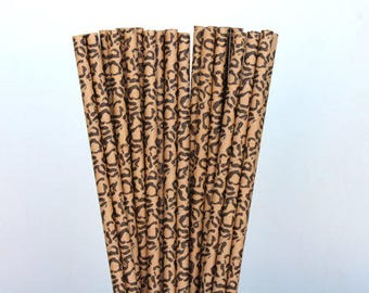 Cheetah Straws (25), Paper Straws, Drinking Straws, Cake Pops, Safari Theme Straws, Party Supplies, Animal Print Straws