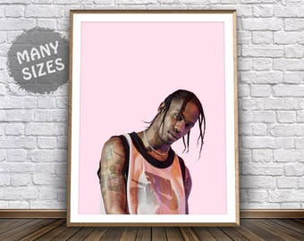 Travis Scott Print • Travis Scott Poster Travis Scott Birds in The Trap Travis Scott Art Hip Hop Print Rap Art Hip Hop Theme Hip Hop Artwork