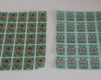Vintage Unused S & H Green  Stamps