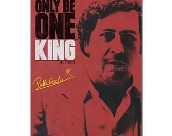 Pablo Escobar Inspirational quote poster print - pre signed - 12x8 inches (30cm x 20cm) - Superb quality - Narcos