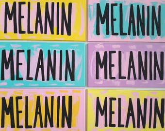 Melanin Hand Painted Canvas - Various Colors