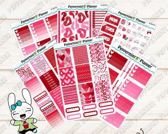 Valentine Weekly Planner kit --- A La Carta --- For use with the Erin Condren Vertical Planner --- 01