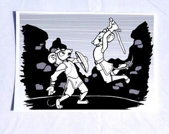 Exsanguinate & Vanquish - Fantasy rat art giclée prints