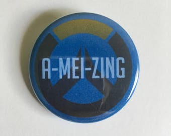 """Mei """"A-Mei-zing"""" Inspired Overwatch Quote Pin"""