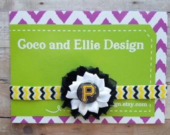 Pittsburg pirates headband/girl pirates/pittsburg pirates baby gift