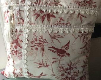 Vintage lace pillow
