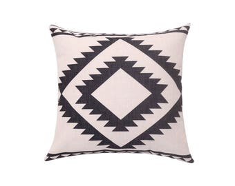 Aztec decorative pillow cover Tribal throw pillow covers Geometric pillow case Linen cushion case Sofa accent pillows Home 18x18 20x20 22x22
