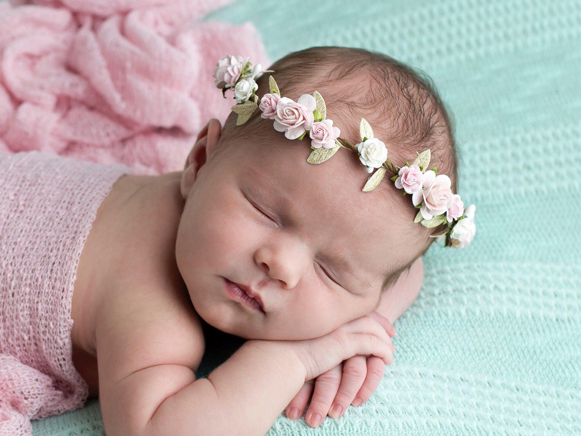 Blush Flower Crown Flower Crown Newborn Flower Crown Floral Crown