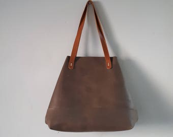 Leather tote bag, Shopper bag, Leather bag, brown leather bag, Women leather bag, Handmade leather Tote, Gift for her