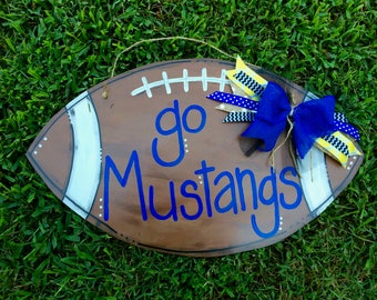 football door hanger - football sign - wooden door hanger - door hanger - football decor - back to school decor - personalized football sign
