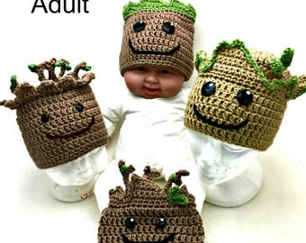 Crochet Groot Hat *PATTERN ONLY*