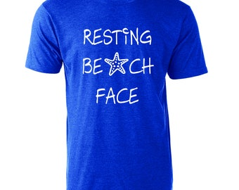 Resting Beach Face Funny Graphic T-Shirt