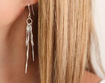 Twisted Sterling Silver Earrings. Silver earrings, unusual earrings, silver jewellery, silver jewelry, teardrop earrings