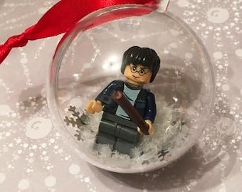 Harry Potter Christmas Bauble, Harry Potter fan, Harry Potter, Harry Potter Minifigure, Lego bauble, Harry Potter Lego, Harry Potter xmas