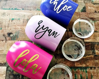 Personalized Like a Swig Wine Tumbler with Lid |Insulated Wine Glass|Monogrammed Wine Tumbler|Bridal Party Wine Glass|Wine Lover Gift