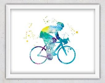 Bike Print, Bike Art Print, Nursery Printable, Bicycle Print, Cyclist Road Cycling, Sport Art, Digital Art, Printable Instant Download Art