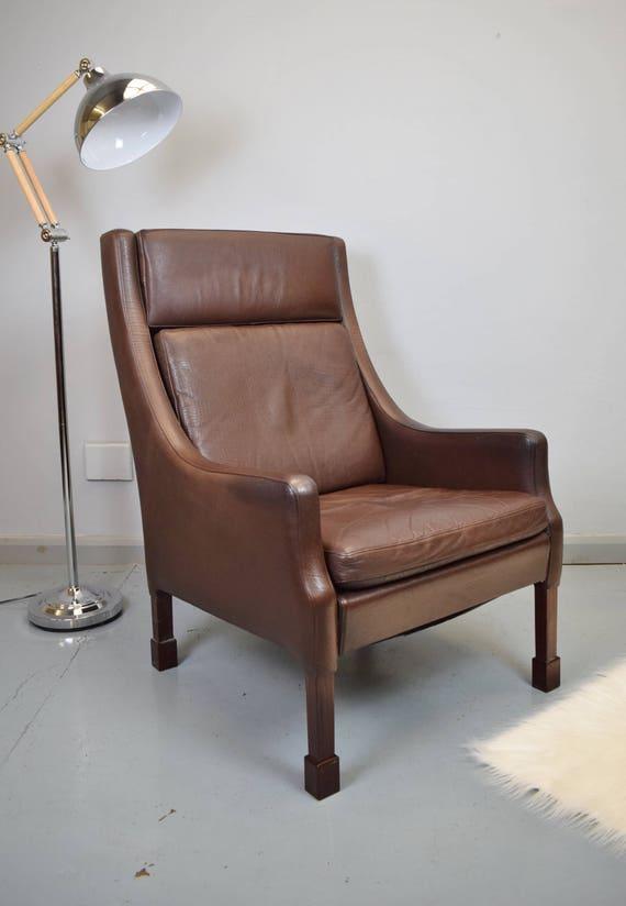 mid century retro vintage danish borge mogensen style brown