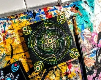 Mandala painting on canvas/magnet