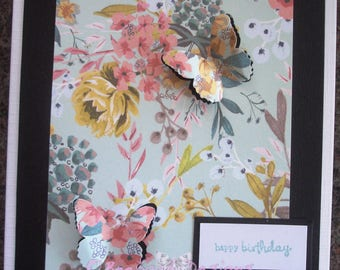 Handmade female birthday card