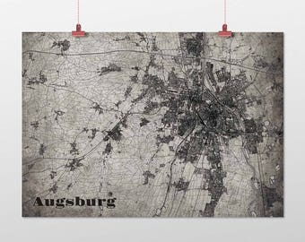 Augsburg - A4 / A3 - print - OldSchool
