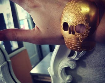 Golden spoon skull bracelet