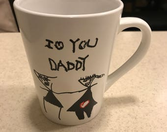 Handwriting Mug ** one of a kind gift!!