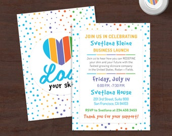 Rodan and Fields Launch Party, Free Personalized, RF Big Business Launch Invitation, Skincare Invitation, R + F BBL Cards