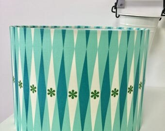 30cm retro green and turquoise lamp shade