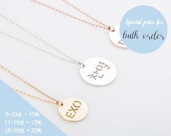Kpop Necklace, EXO Necklace, TWICE Necklace, Bangtan Sonyeondan Necklace, Name Necklace in Godl, Rose gold and Silver