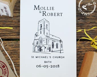 Wedding stamp, Wedding venue stamp, wedding invitation stamp, save the date stamp, personalised wedding stamp, elegant wedding invite