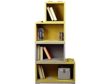 Combi BookXL, colorated, modern, bookshelf, bookcase, modular, wood disply, furniture design