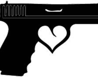 Hand gun with trigger heart