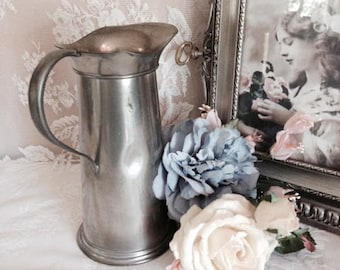 Pewter Pitcher With Swoop Handle