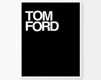 Tom Ford Print, Tom Ford, scandinavian poster, digital poster, fashion wall art, printable wall art, scandinavian print, minimal wall art