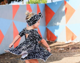 Geo Girl Twirl Dress
