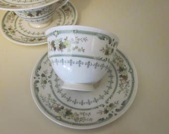 Royal Doulton Provencal Cup and Saucers Set of 4 Made in England