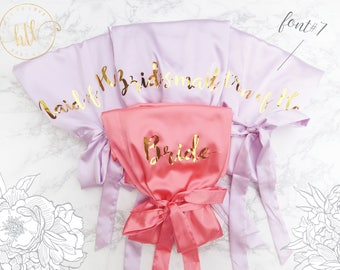 Bride Robe, Bridesmaid Robes, Bride Gift, Glitter Bride Robe, Getting Ready Robes, Wedding Party, Mother of the Bride Gift