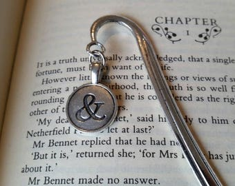 Metal bookmark, book lover gift, literary gift, ampersand symbol