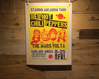 18x24 Red Hot Chili Peppers Concert Poster Concept