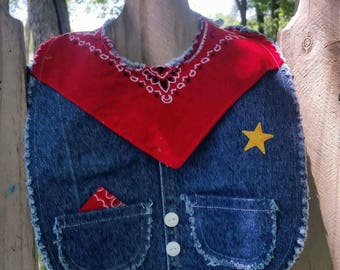 Denim Baby Bib