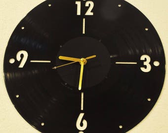 Vinyl record lover's clock