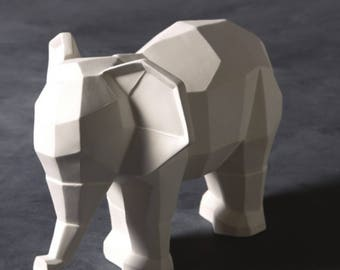 Faceted White Elephant