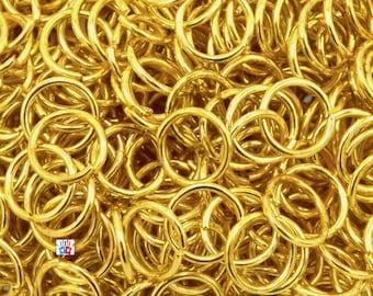 Anneaux de Jonction doré Ø6mm /Ø5mm/Ø4mm ep. 0.7 par lot de 100/200/500 unités