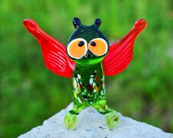 Blown glass owl figurine animals glass owl sculpture art glass birds toy murano birds owl blown collectible animals figures