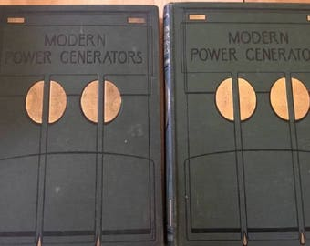 Modern Power Generators 2 Volume Set c. 1908